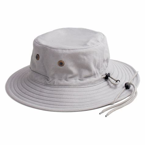 Canvas Boonie Style Unisex Broad Brimmed Hat With Neck Flap And Chin Strap