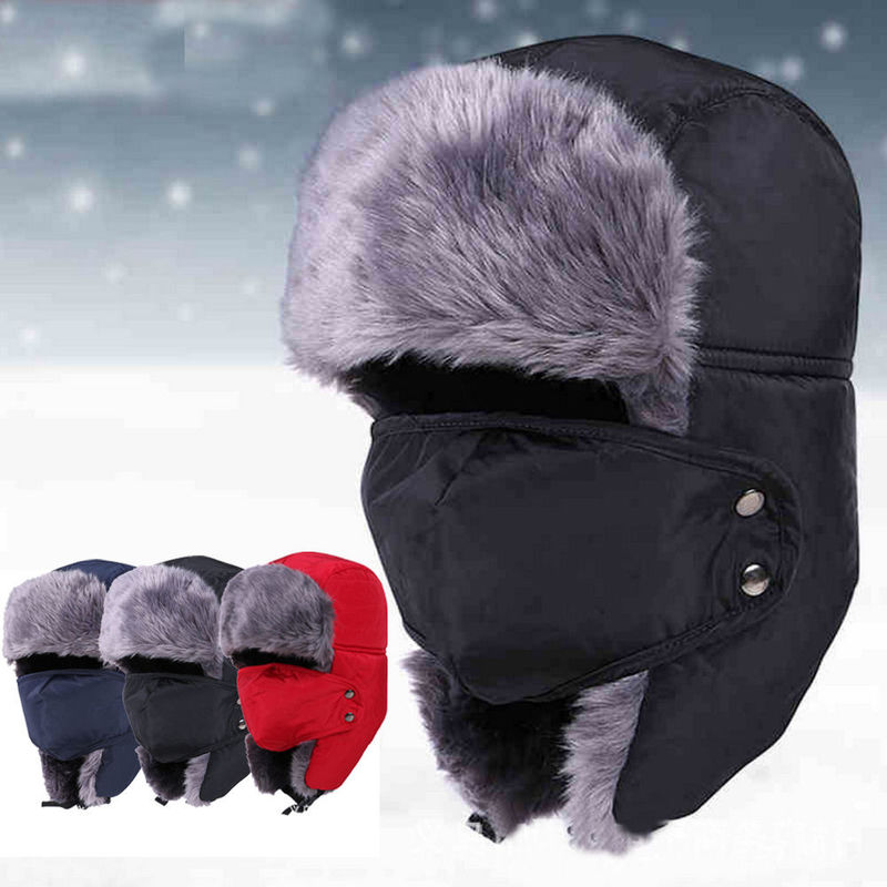 Unisex Outdoor Waterproof Wool Winter Hat For Men Strings Buckle Closure Available