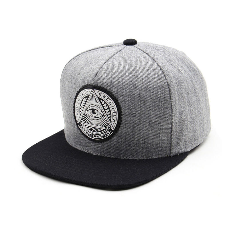 Five Panel Unisex Snapback Baseball Caps Premier Illuminati Eye Hiphop Hats Gray